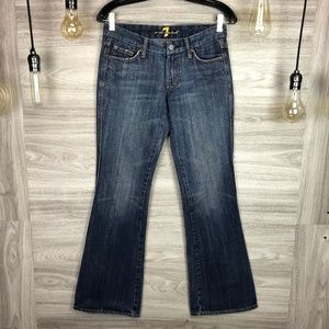 """7 For All Mankind """"A"""" Pocket Bootcut Jeans Size 27"""